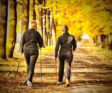 Frauen beim Nordic Walking