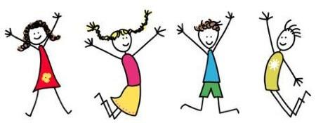 Spielende Kinder Zeichenfiguren